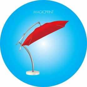 Parasol déporté publicitiare carré 3 mètres