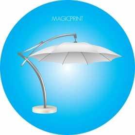 Offset round umbrella 4,2 meters
