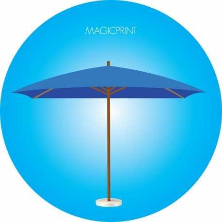 Parasol rectangle publicitaire 3x4 mètres