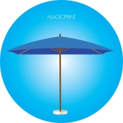 Parasol rectangle publicitaire 3x4 mètres