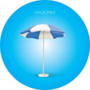 Parasol rond publicitaire 2 mètres