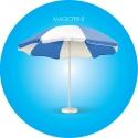 Parasol rond publicitaire - 3,50 mètres