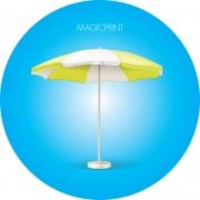 Parasol rond publicitaire et personnalisable 5,50 mètres - MAT RENFORCÉ
