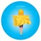 Serviettes poncho enfants publicitaire fond bleu avec logo