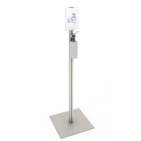 Distributor stand for disinfectant gel