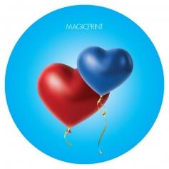 Ballon Coeur Publicitaire bleu