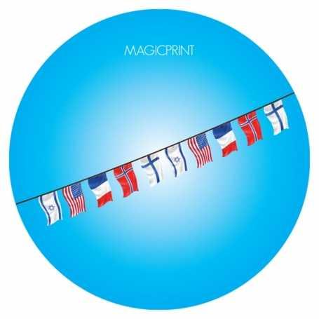 Guirlande drapeaux publicitaire