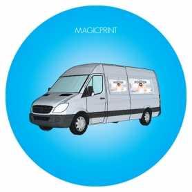 Magnet véhicule publicitaire impression quadri