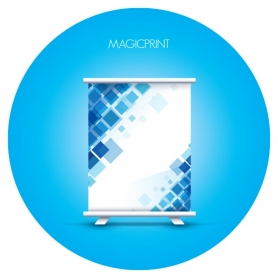 Mini roll up publicitaire - personnalisation Logo