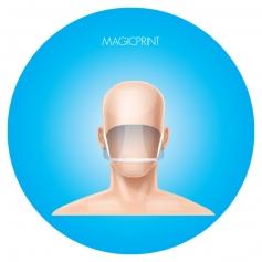 Masque transparent réutilisable
