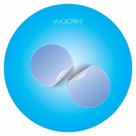 Micro-ventouse (sans colle) stickers sans colle petits formats publicitaires