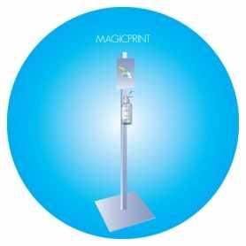 Stand pour distributeur gel avec option coude