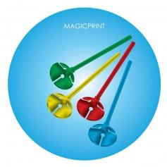 Tiges plastiques pour ballons publicitaires
