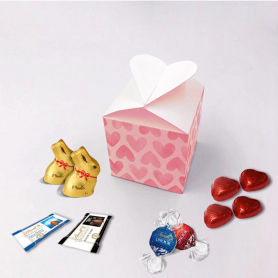 Heart box - Personalized with Lindt chocolates
