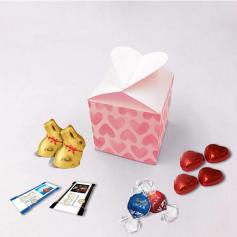 Boite Coeur - Personnalisée avec chocolats Lindt