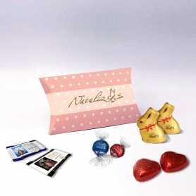 Boite Berlingot - Personnalisée avec chocolats Lindt