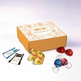 Coffret Gourmand - Personnalisé avec chocolats Lindt