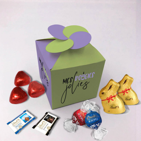 Flower Box - Personalized with Lindt chocolates