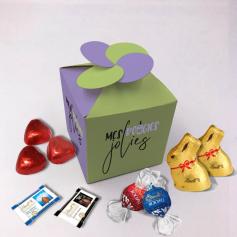 Boite Fleur - Personnalisée avec chocolats Lindt
