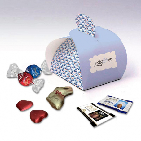 Half Moon Box - Personalized with Lindt chocolates