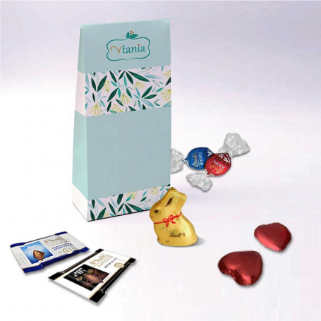 Gusset Box - Personalized with Lindt chocolates