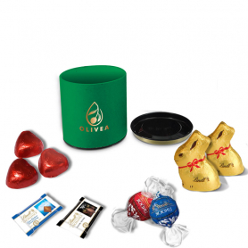 Luxury Round Box - Personalized with Lindt Chocolates