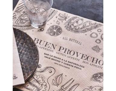 Nappe et set de table en papier recyclé et kraft: Agir pour une bonne cause