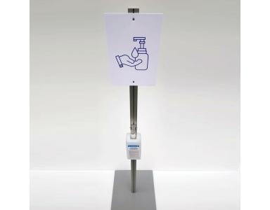 Stand distributeur pour gel désinfectant de chez Magic-print